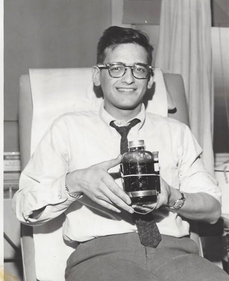 Kenn Venit donates blood as a Freshman in 1962-3. | RICHARD KAPLINSKI